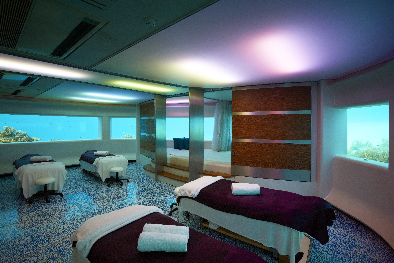 Área de tratamientos del hotel Huvafen Fushi