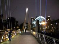 Hungerford Bridge and Golden Jubilee Bridges