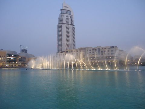 Dubai Fountain (Vista exterior)